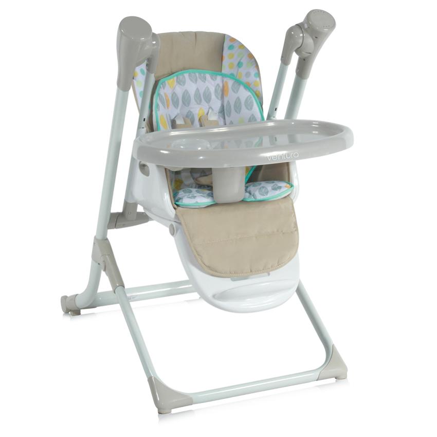 2v1 Jídelní židlička-houpačka Lorelli VENTURA-BEIGE