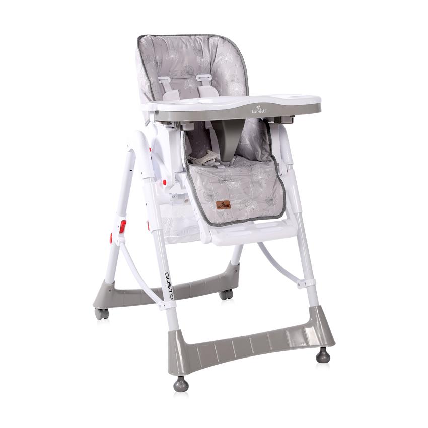 Jídelní židlička Lorelli GUSTO GREY DANDELIONS