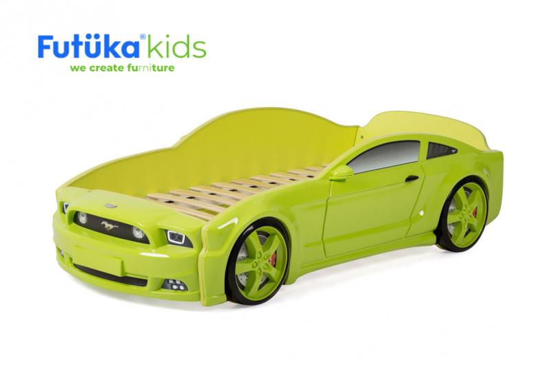 Dětská postel auto Futuka kids LIGHT 3D MG ZELENÁ