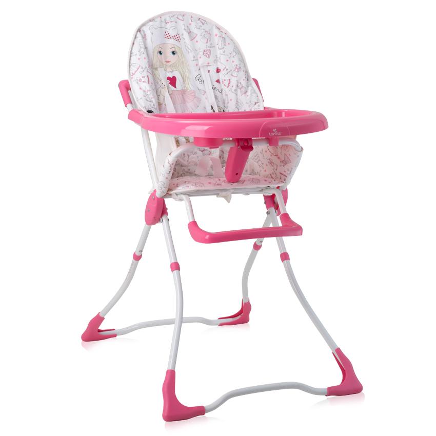 Jídelní židlička MARCEL PINK GIRL