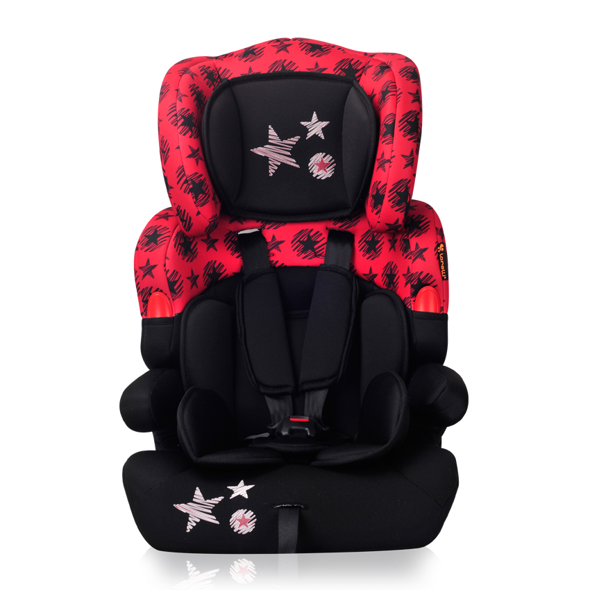 Autosedačka Lorelli KIDDY 9-36 KG BLACK&RED STARS