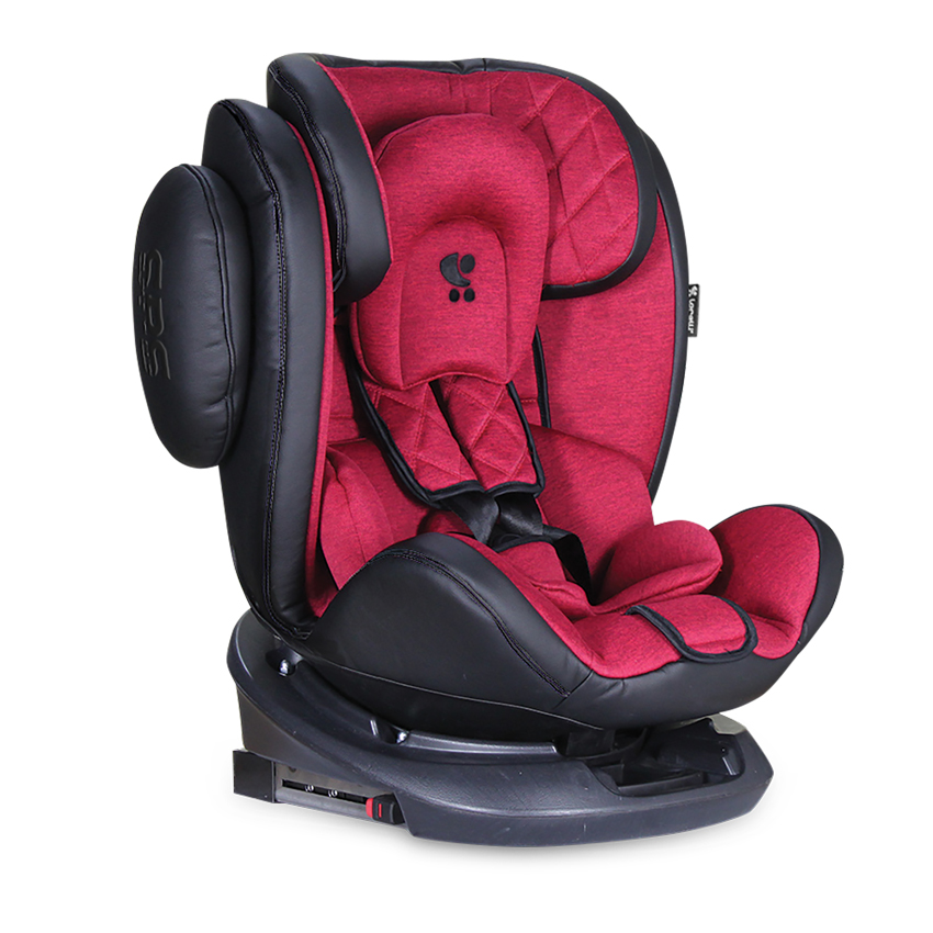 Autosedačka AVIATOR ISOFIX 0-36KG BLACK/RED