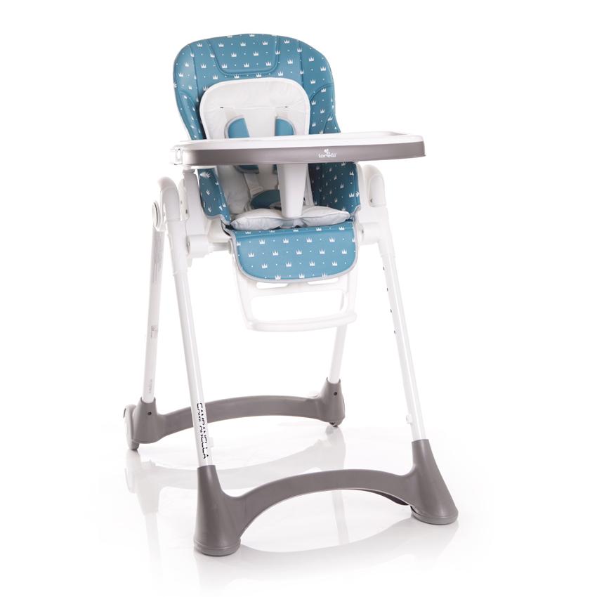 Jídelní židlička Lorelli CAMPANELLA SEA BLUE CROWNS