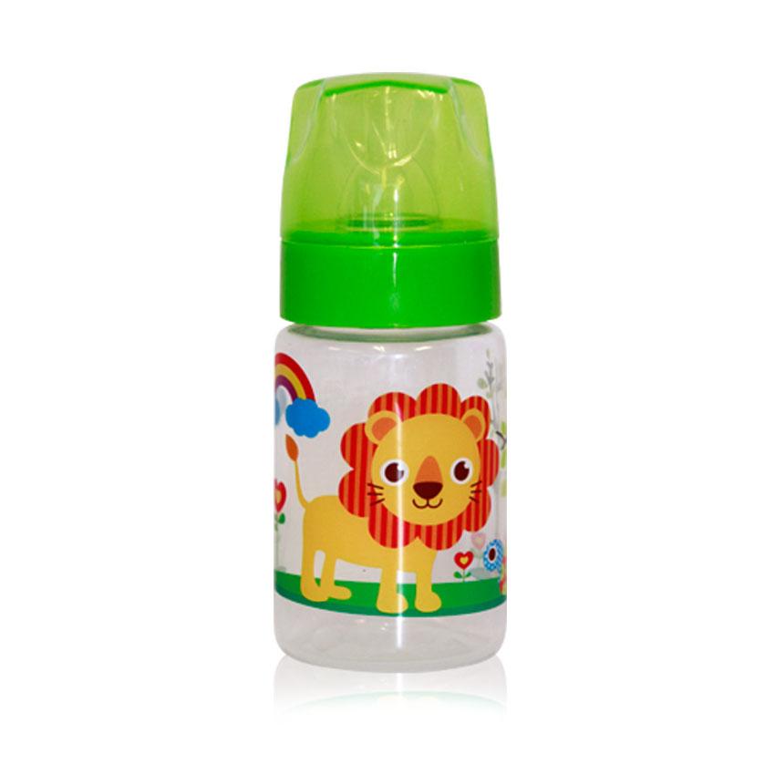 Fľaša Lorelli 125 ML ZOO GREEN/ORANGE