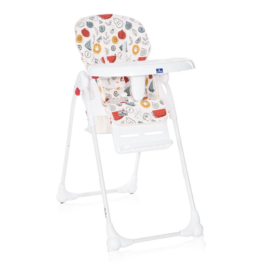 Jídelní židlička Lorelli DULCE WHITE FRUITS