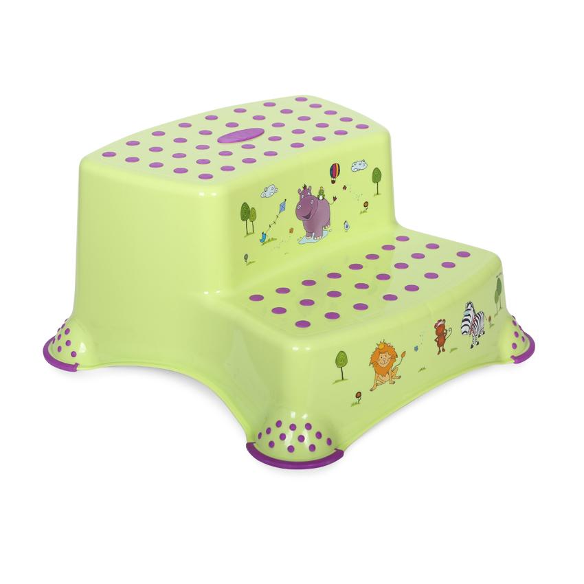 Krok stolička DOUBLE HIPPO GREEN