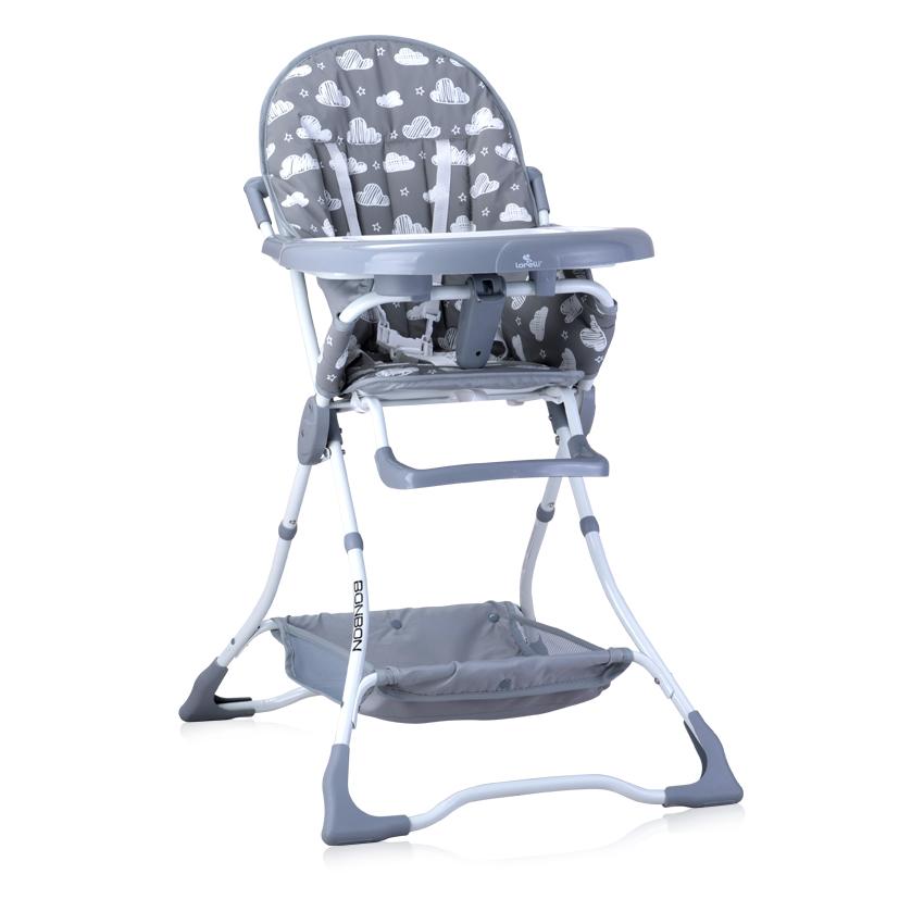 Jídelní židlička BONBON GREY STARS&CLOUDS