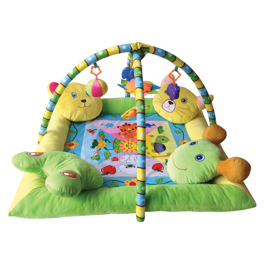 PLUSH PLAY GYM WITH 4 PILLOWS 88x88