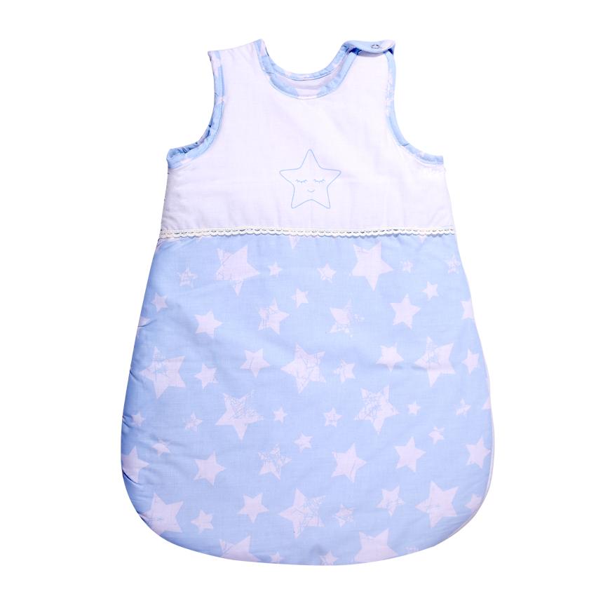 Spací vak pre bábätká Lorelli SUMMER 0-6M BLUE STARS