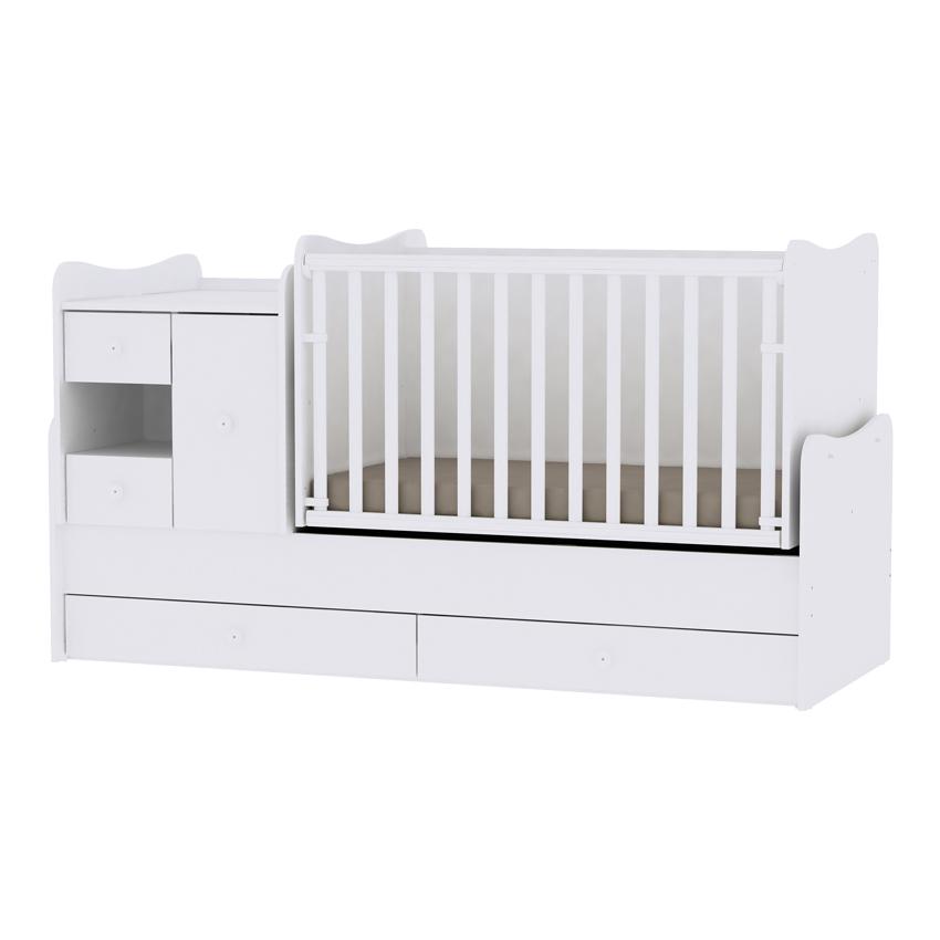 Multifunkčná detská postieľka Lorelli MINI MAX New 190x72 WHITE
