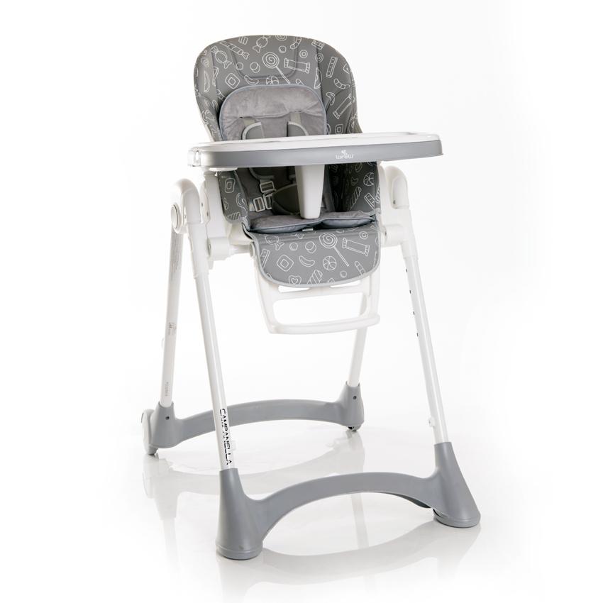 Jídelní židlička Lorelli CAMPANELLA GREY CANDY